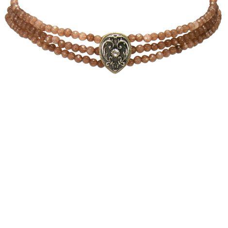 Perlen-Kropfkette Adela (braun) Bild 2