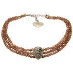 Perlen-Kropfkette Adela (braun)