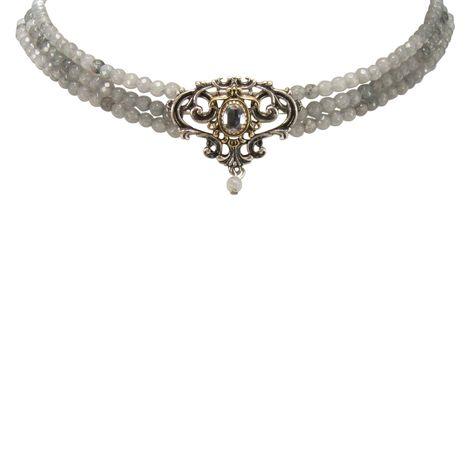 Perlen-Kropfkette Ophelia (grau) Bild 3