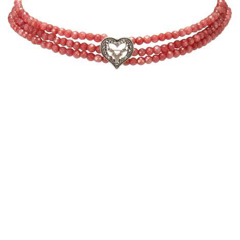 Perlen-Kropfkette Strassherz-Hirsch (hell-rot) Bild 2