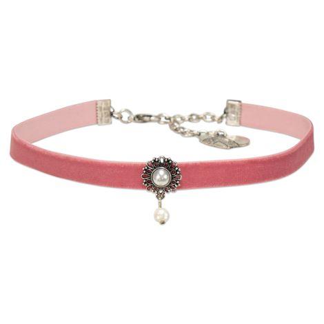 Trachten-Samt-Kropfband Helena (rosa-rosé)