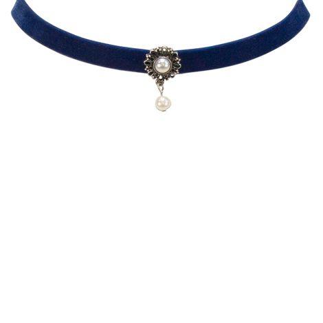 Samt-Kropfband Helena (blau) Bild 2