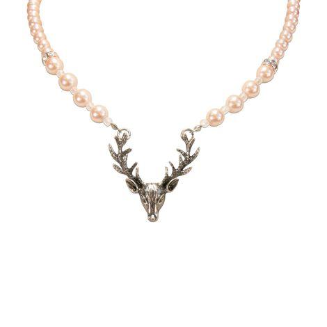 Perlen-Halskette Hirsch (rosa-rosé) Bild 3