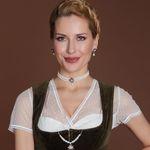 Perlen-Kropfkette Strass-Edelweiß (creme-weiß)