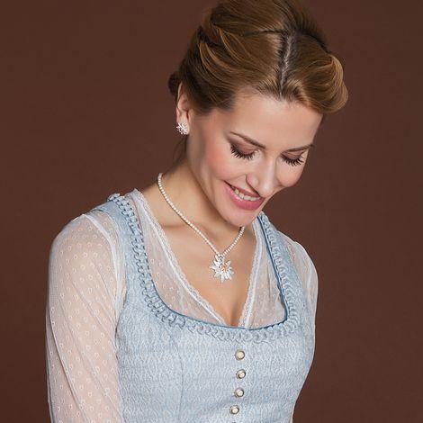Edelweiß-Perlenkette Greta groß (creme-weiß) Bild 2
