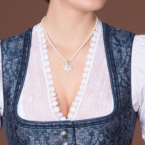 Edelweiß-Perlenkette Greta klein (creme-weiß) Bild 2