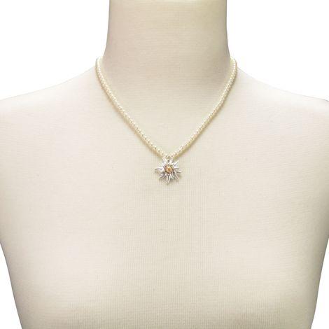 Edelweiß-Perlenkette Greta klein (creme-weiß) Bild 4