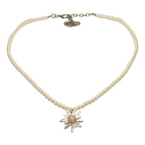 Edelweiß-Perlenkette Greta klein (creme-weiß) Bild 1