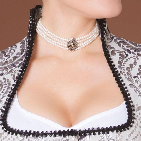 Perlen-Kropfkette Melina (creme-weiß) Bild 2