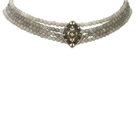Perlen-Kropfkette Melina (grau) Bild 2