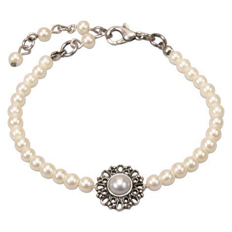 Perlen Armkette- Helena (creme-weiß) Bild 1