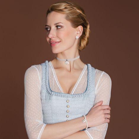 Perlenarmband Strass-Edelweiss Greta (creme-weiß) Bild 2
