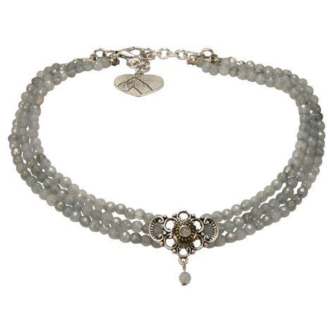 Perlen-Kropfkette Hedwig (grau) Bild 1