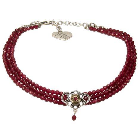 Perlen-Kropfkette Hedwig (rot) Bild 1