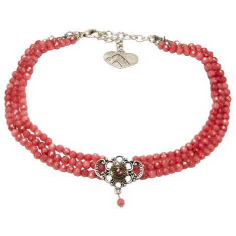 Perlen-Kropfkette Hedwig (hell-rot) Bild 1
