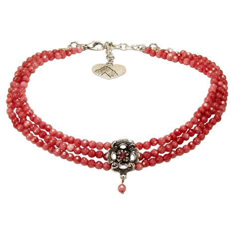 Perlen-Kropfkette Frederike (hell-rot) Bild 1