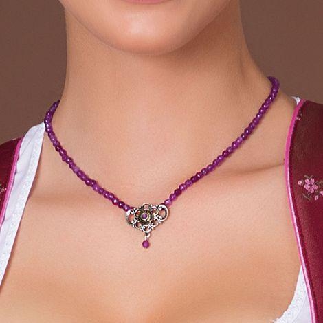 Perlen-Halskette Hedi (lila-violett) Bild 2