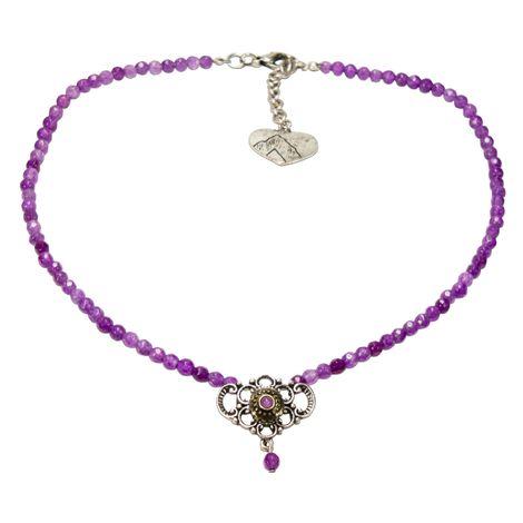 Perlen-Halskette Hedi (lila-violett) Bild 1