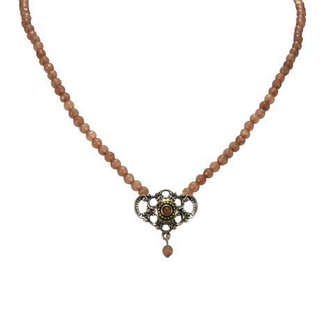 Perlen-Halskette Hedi (braun) Bild 2