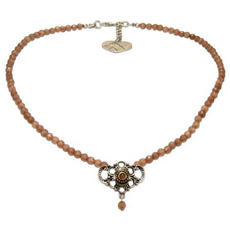 Perlen-Halskette Hedi (braun) Bild 1