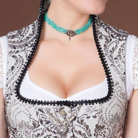 Perlen-Kropfkette Mary (türkis) Bild 2