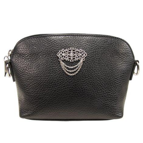 Echt-Leder Trachtentasche Julie (schwarz) Bild 2