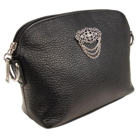 Echt-Leder Trachtentasche Julie (schwarz) Bild 3