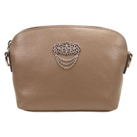 Echt-Leder Trachtentasche Julie (taupe-braun) Bild 2