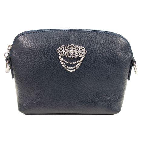 Echt-Leder Trachtentasche Julie (blau) Bild 2