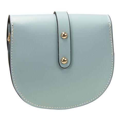 Echt-Leder Trachtentasche Strass-Edelweiß (hell-blau) Bild 4