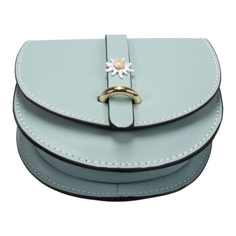 Echt-Leder Trachtentasche Strass-Edelweiß (hell-blau) Bild 5