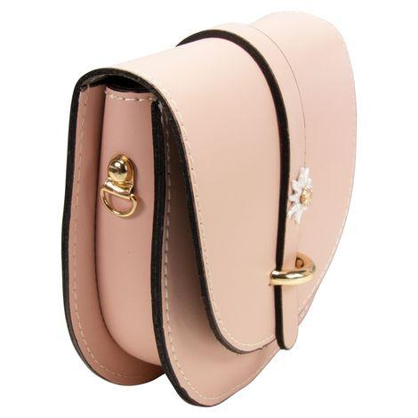 Echt-Leder Trachtentasche Strass-Edelweiß (rosa-rosé) Bild 3