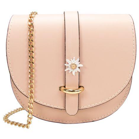 Echt-Leder Trachtentasche Strass-Edelweiß (rosa-rosé) Bild 1