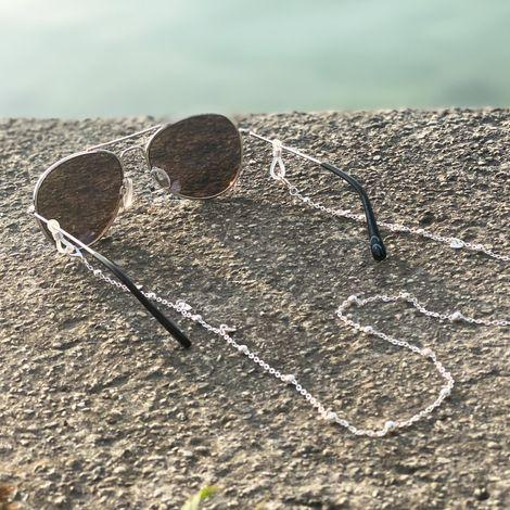 Brillenkette Herzchen (silber-farben) Bild 2