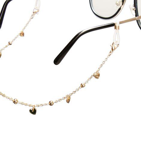 Brillenkette Herzchen (gold-farben) Bild 3