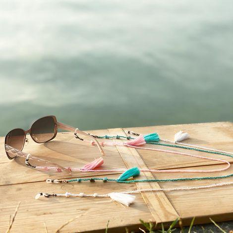 Brillenkette Boho (türkis) Bild 2