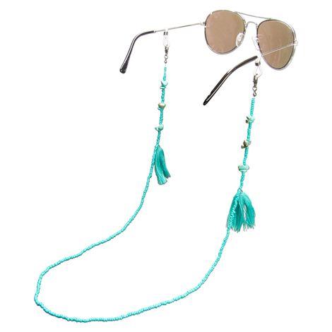 Brillenkette Boho (türkis) Bild 1