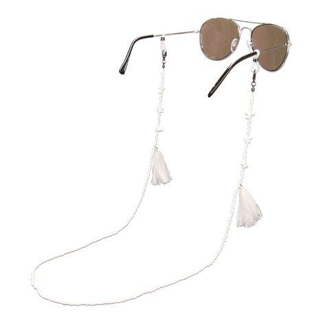 Brillenkette Boho (weiß) Bild 1