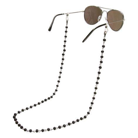 Brillenkette Holzperlen (schwarz) Bild 1