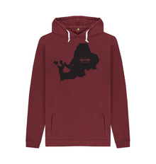 Chiemsee Motiv Hoodie red wine black 001