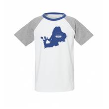 Kinder Raglan T-Shirt Bio & Fair blau