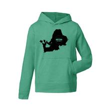 Chiemseemotiv Kids Hoodie Shirt Vivid Green black 001