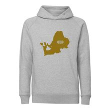 Chiemseemotiv Hoodie Man grey Golden Lake