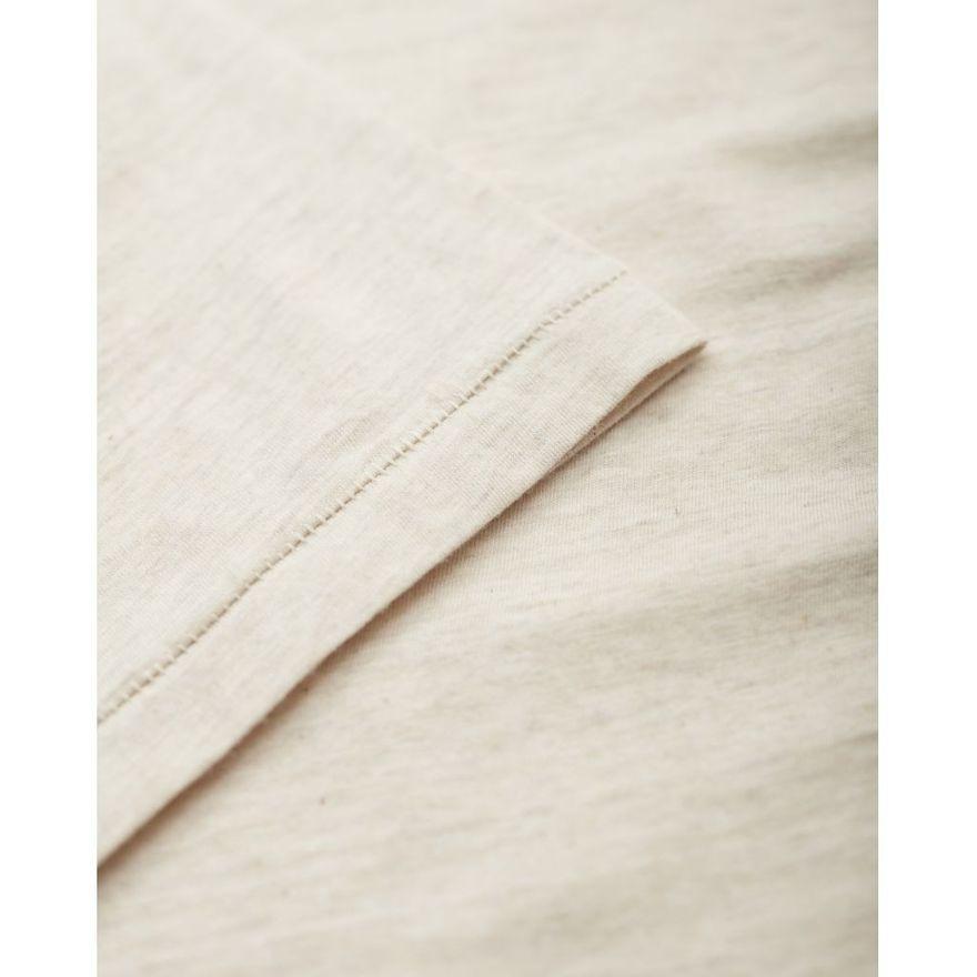 Basic Regular Fit O-Neck GOTS white melange – Bild 2