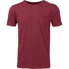 Basic Tee With Chest Rosewood 001