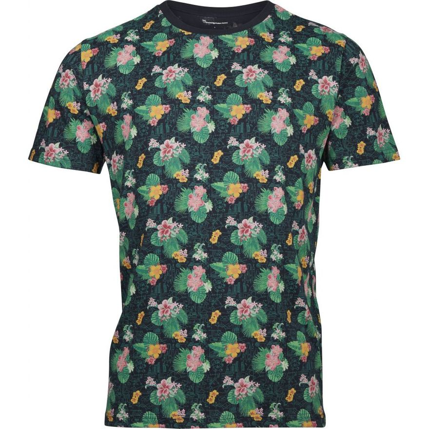 T-Shirt Flower AOP - GOTS