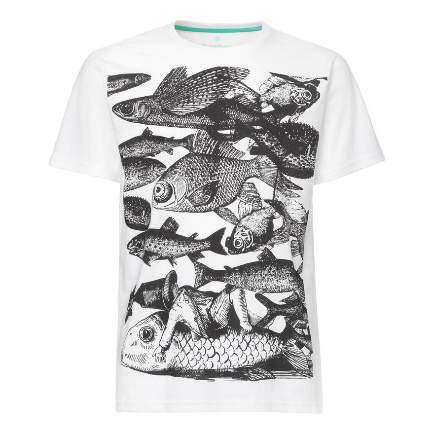 Fish T-Shirt black/ white GOTS / Fairtrade – Bild 1