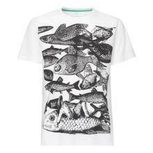 Fish T-Shirt black/ white GOTS / Fairtrade 001