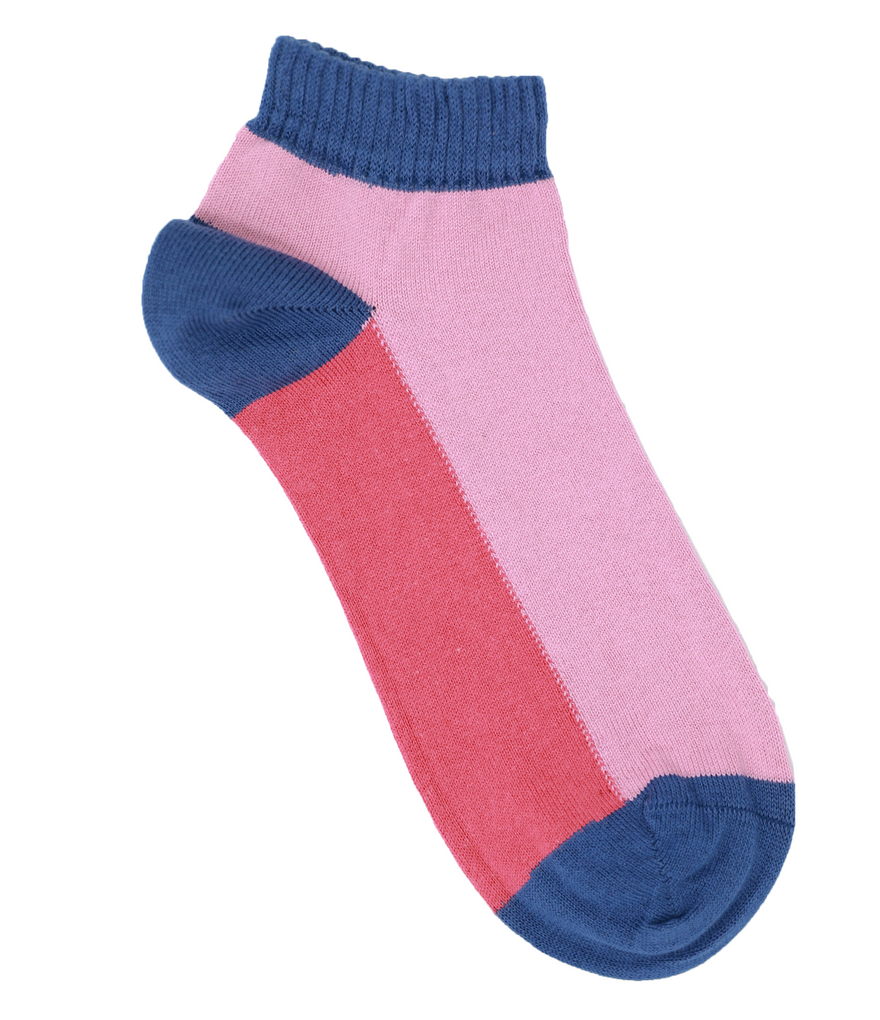 Colour Block Sports Ankle Socks