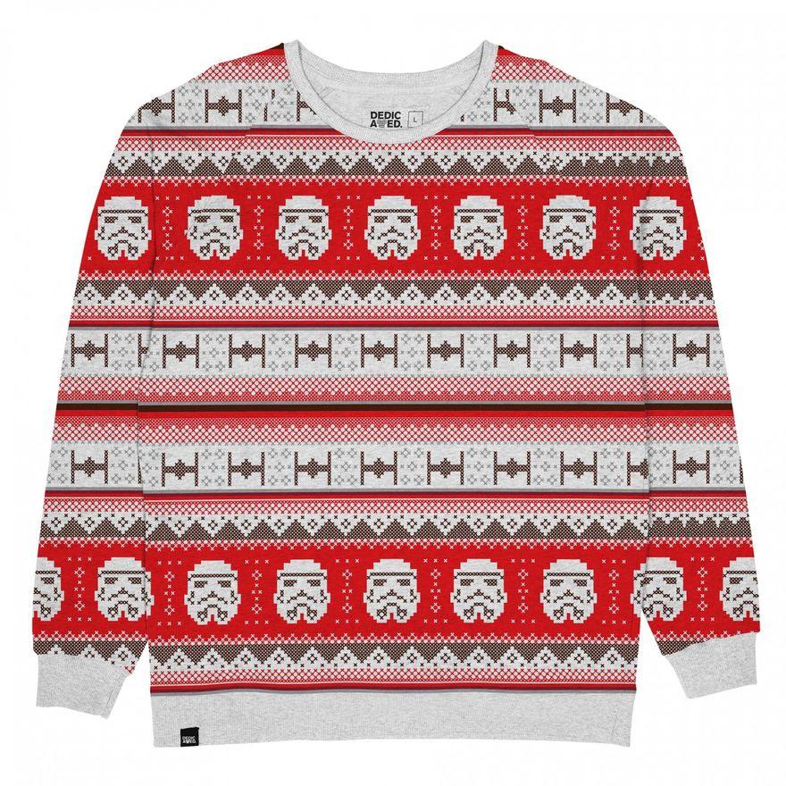 Star Wars Christmas Trooper Sweater Grey